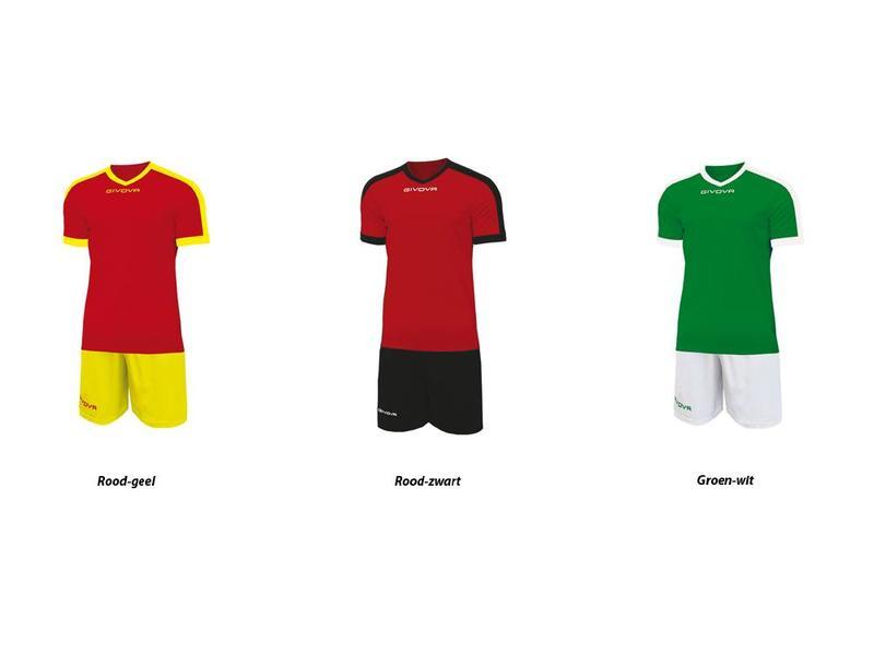 Givova Schoolset Revolution  v.a. 20 sets. Shirt-Short-Kousen