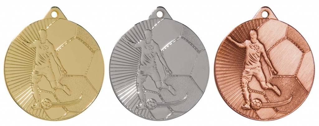M 81-25 Voetbal medaille incl, lint en graveren