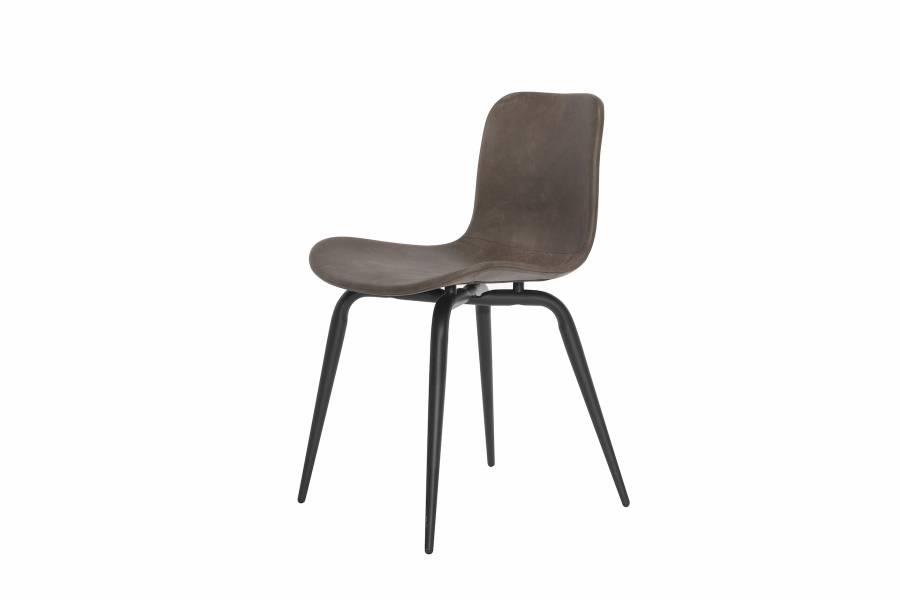 NORR11 Langue Avantgarde Dining Chair, Black - Leather