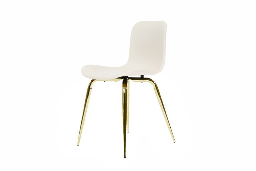 NORR11 Langue Avantgarde Dining Chair, Brass - Leather