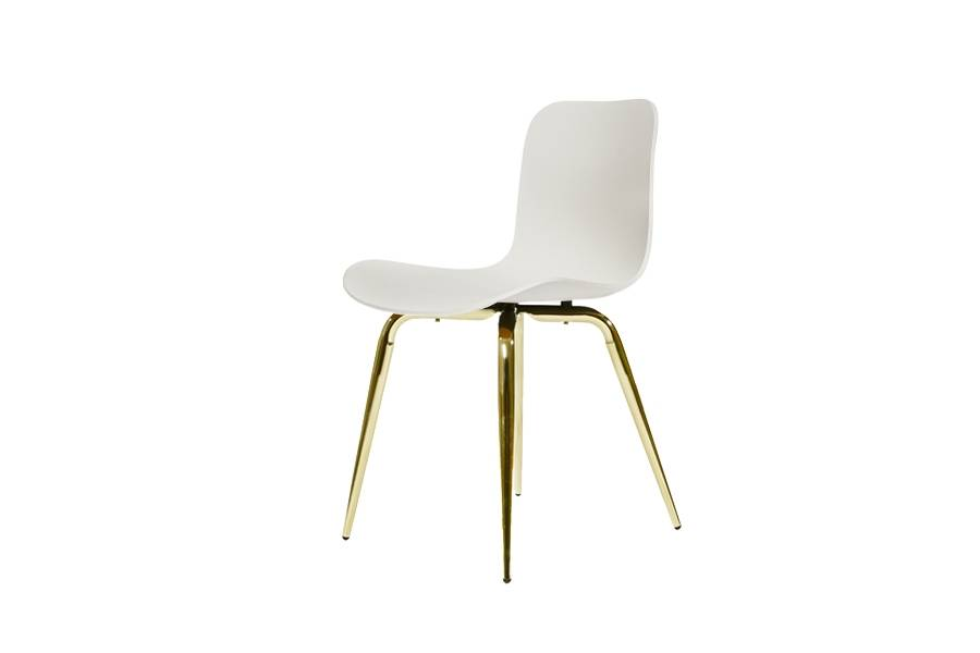 NORR11 Langue Avantgarde Dining Chair, Brass - Plastic