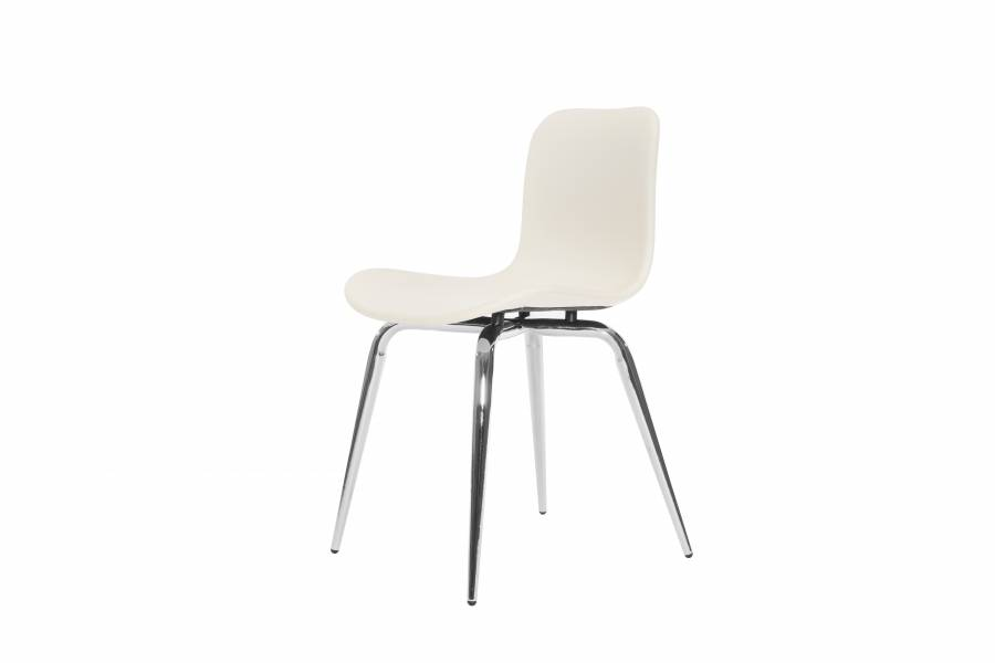 NORR11 Langue Avantgarde Dining Chair, Chrome - Leather