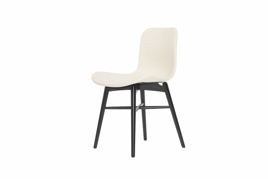 NORR11 Langue Original Dining Chair, Black - Leather