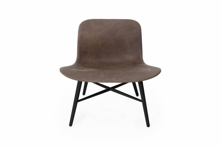 NORR11 Langue Original Lounge Chair, Leather / Black