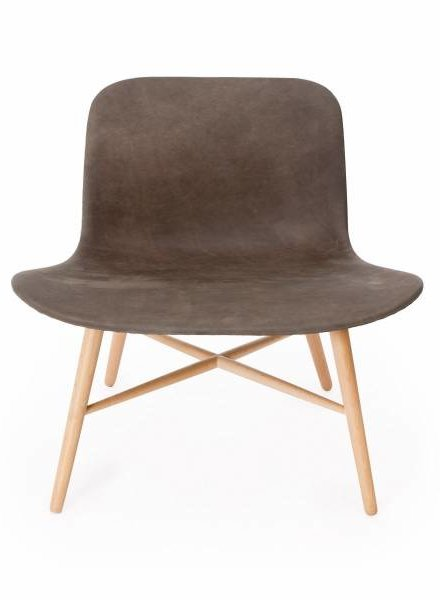 NORR11 Langue Original Lounge Chair, Natural - Leather