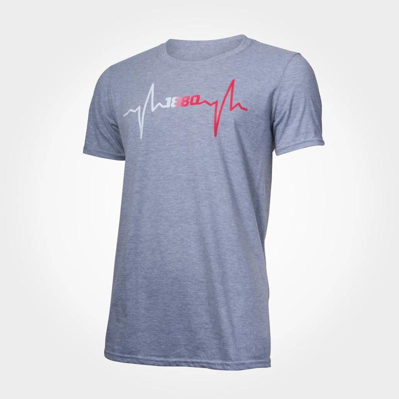"""T-shirt """"Hartslag"""" grijs"""