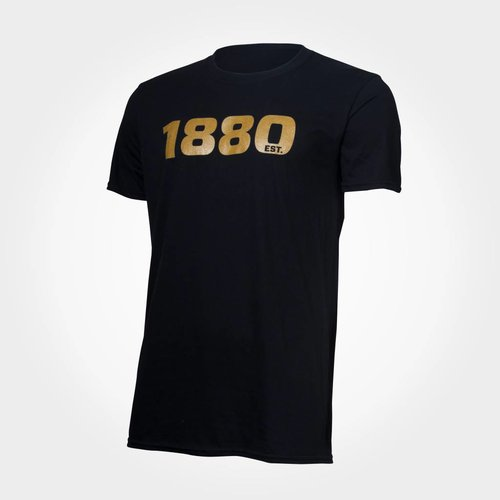 "Official Antwerp Official T-shirt - ""1880"" - Zwart/Goud"