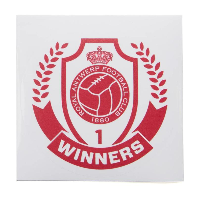 "Antwerp Official Transparante Sticker - ""Winners"""