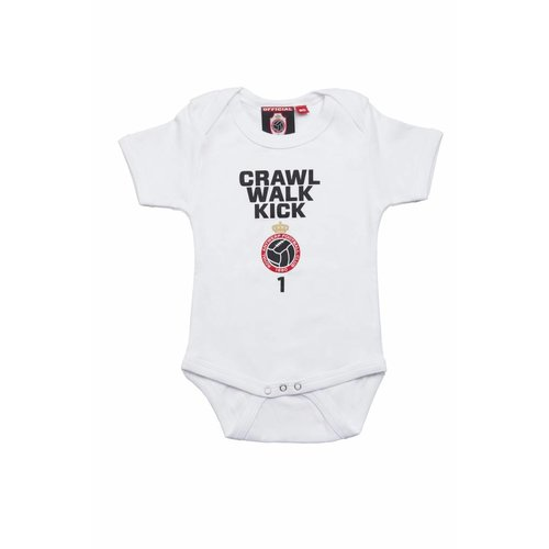 "Official Antwerp Official Baby Rompertje -	""Crawl"" - Wit"