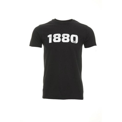 "Official Antwerp Official T-shirt - ""1880"" - Zwart/Wit"