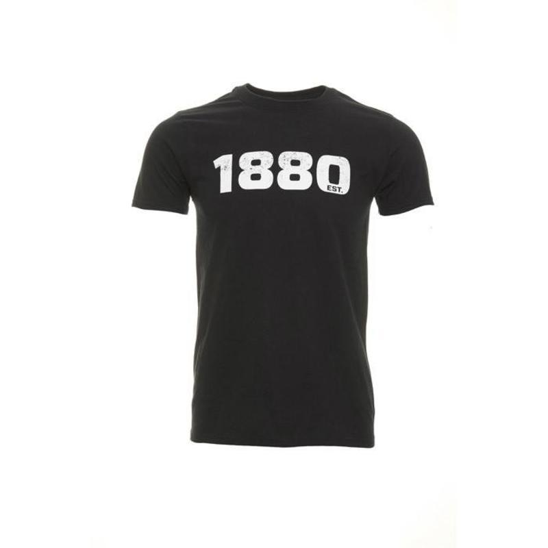 """Antwerp Official T-shirt - """"1880"""" - Zwart/Wit"""
