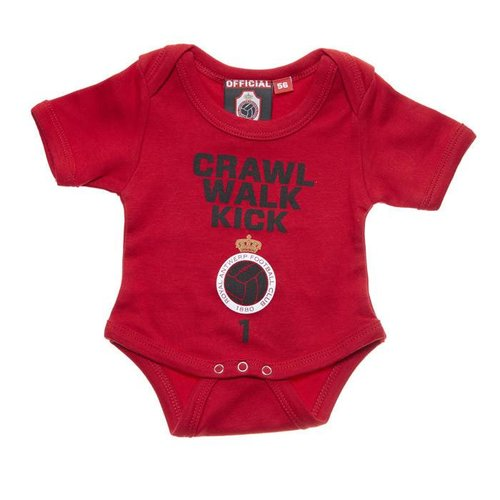 "Official Antwerp Official Baby Rompertje -	""Crawl"" - Rood"
