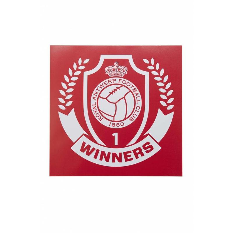 "Antwerp Official Playstation Sticker - ""Winners"" - Rood"