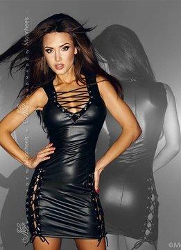Noir Handmade Stijlvol jurkje met rijgvetersluiting