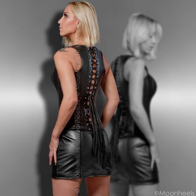 """""""Black Temptation"""" set of corset + mini skirt"""