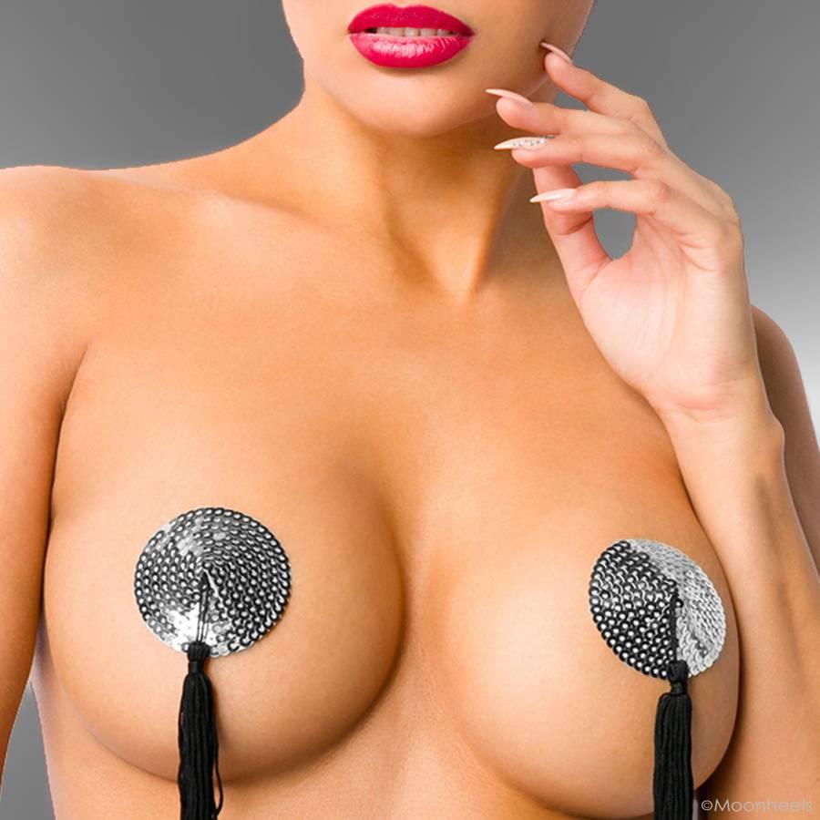 Nipple cover Silver heart  - Copy