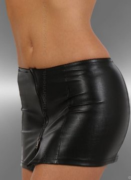 Mini skirt stretch faux leather