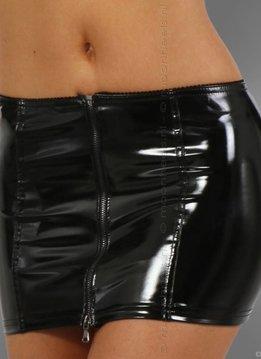 Mini skirt stretch Laque