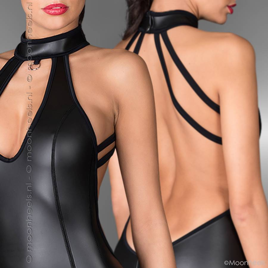 Kinky dress neoprene (rubber) with lacing lace on the front - Copy