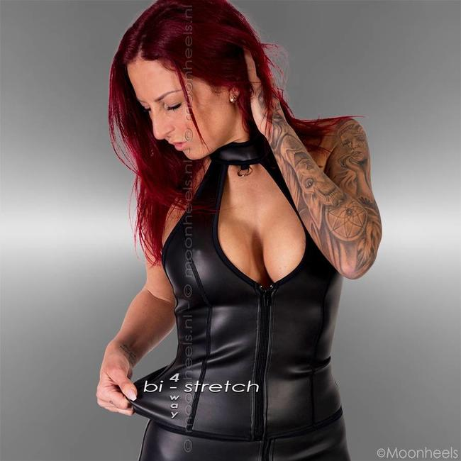 Kinky neoprene (rubber) collar top