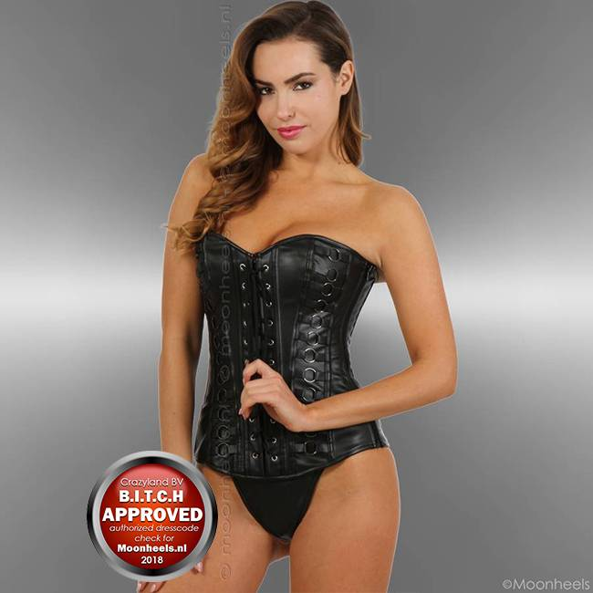 Sturdy Black leatherlook Corset