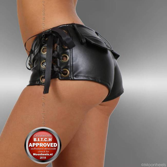 Hotpants faux Leather Black - Copy
