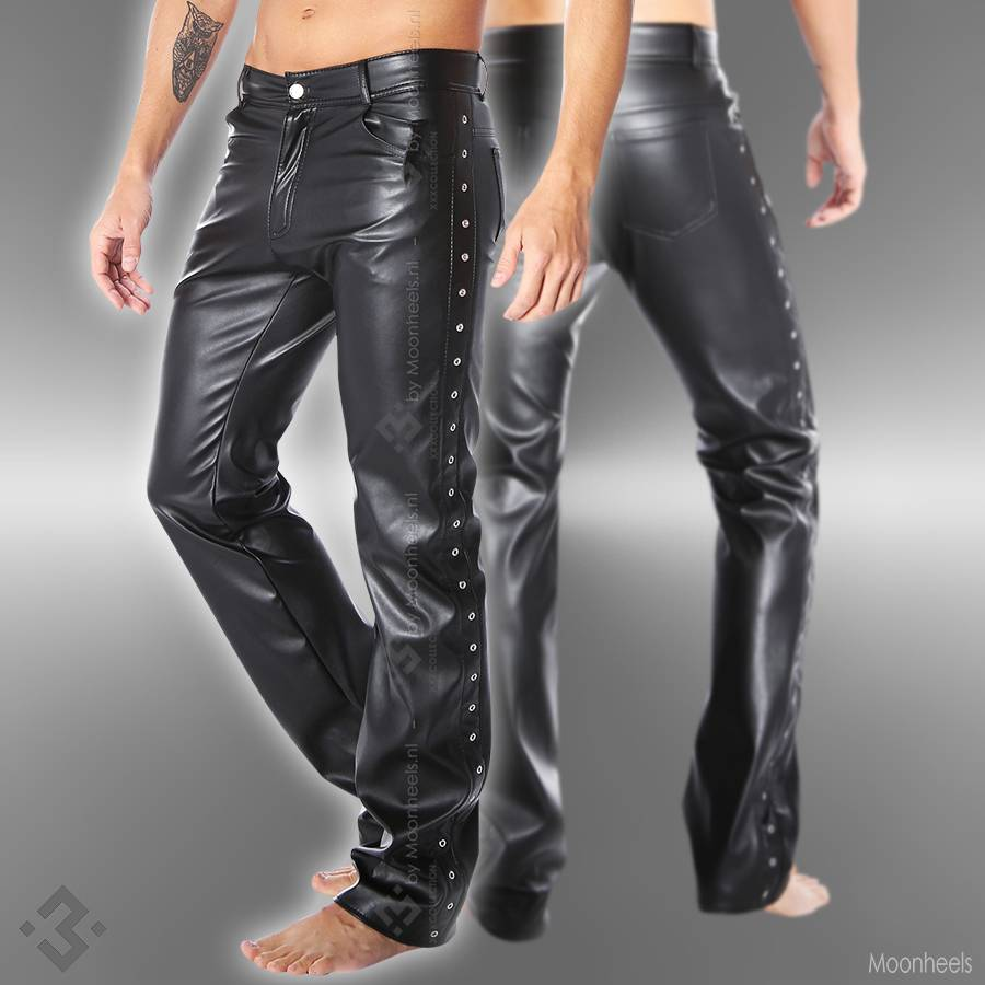 Leather pants black Man