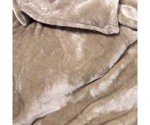 Unique living fleece plaid blush beige dekbedset.nl