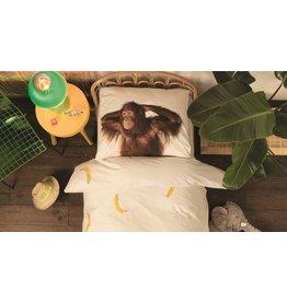 Snurk Snurk beddengoed Banana Monkey dekbedovertrek