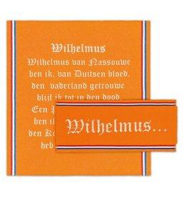 DDDDD Keukenset Wilhelmus Oranje 1 keukendoek 2 theedoeken