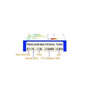 Proclear Multifocal Toric  6 lentilles