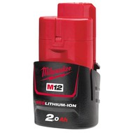 Milwaukee M12B2 Accu 12V / 2.0 Ah Red Li-Ion
