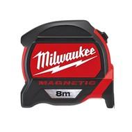 Milwaukee Magnetische rolbandmaat  8m.