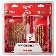 Milwaukee Shockwave RED HEX HSS-G Metaalborenset 19- delige