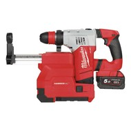 Milwaukee M18CHPXDE-502C Heavy Duty sds-plus accuboorhamer incl. stofafzuigset FUEL 18V / 5.0 Ah