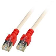 Crossoverkabel,SF/UTP,Cat.5e 1.0m grau (rote Tülle)