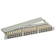 Patchpanel 48xRJ45 STP Cat.6 1HE ,RAL7035