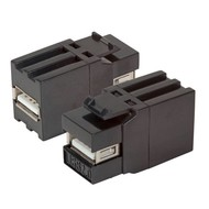 HDMI Snap-In Adapter schwarz, A-Buchse/Buchse,optimized snap
