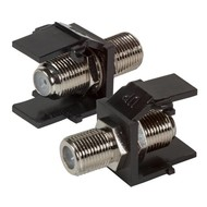 Keystone mit F-Verbinder schwarz