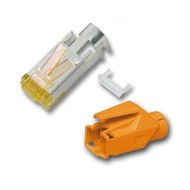 RJ45-Hirose Stecker TM31orange ,100 Stk, 3 Elemente, Cat.6A