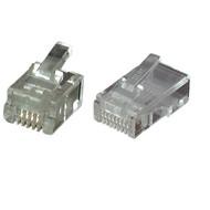 Modular Stecker UTP E-MO 6/4 SF RJ11 VPE100