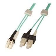 DC LED LWL 50/125µm OM3 Duplex, SC-D/LC-D, 1,0 m