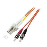 Duplex Jumper LC-ST 50/125µ, 1 m, OM2, LSZH, orange, 2mm