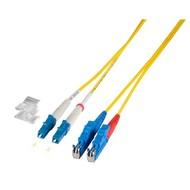 Duplex Jumper LC-E2000® 9/125µ, 4 m, OS2, LSZH, gelb