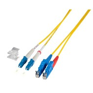 Duplex Jumper LC-E2000® 9/125µ, 7.5 m, OS2, LSZH, gelb,