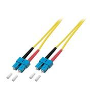 Duplex Jumper SC - SC 9/125µ, 1 m, OS2, LSZH, gelb, 3mm