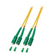 Duplex Jumper SC/APC8° - SC/APC8° 9/125µ, 10 m, OS2, LSZH, gelb
