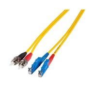 Duplex Jumper E2000®-ST 9/125µ, 1 m, OS2, LSZH, gelb,  Ø 2x2,8mm