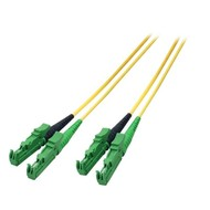 Duplex Jumper E2000®/APC8°-E2000®/APC8° 9/125µ, 0,5 m, OS2, LSZH, gelb