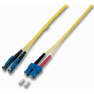 Duplex Jumper E2000® - SC 9/125µ, 1 m, OS2, LSZH, gelb, 3mm